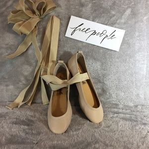 NWOT Leather Free People Ballet Flats